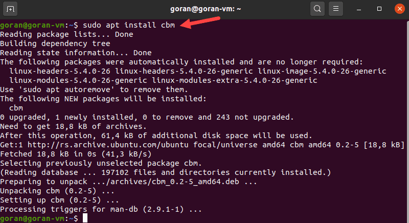 install CBM on Linux.