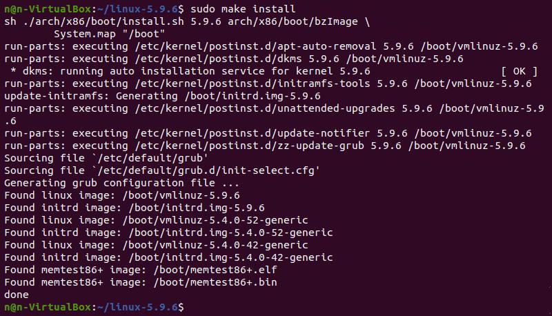 Installing kernel.