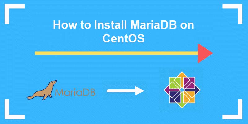 header for a tutorial on installing mariadb on centOS 7