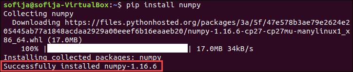 Install NumPy with Python 2.