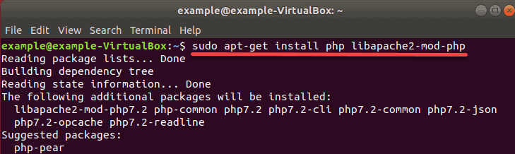 installing PHP dependencies and modules for use with Apache