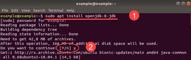 Image shows hoe to install specific version of JDK.