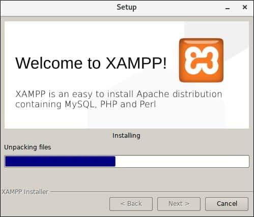 installing xampp stack