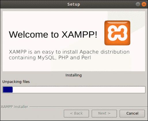 xampp installation begins