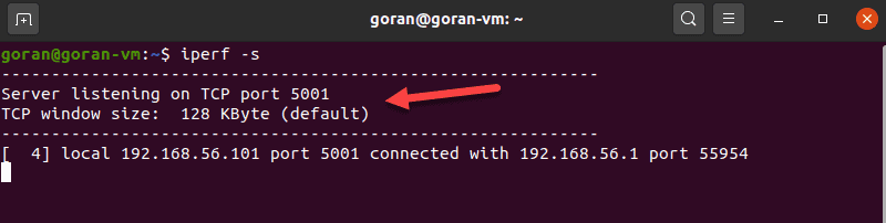 Use iPerf to run a ping test.