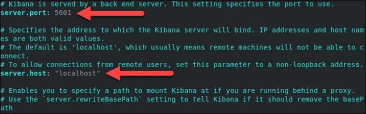 Kibana configuration file.