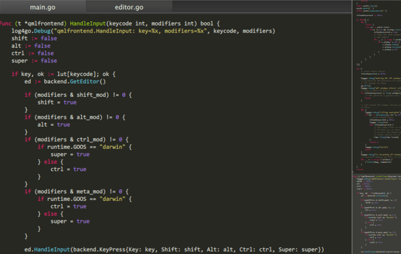 Lime Text Editor Interface