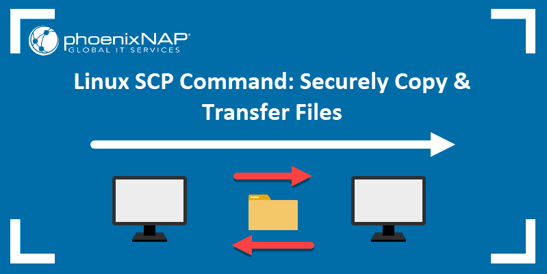 How to use the SCP command to transfer and copy files.