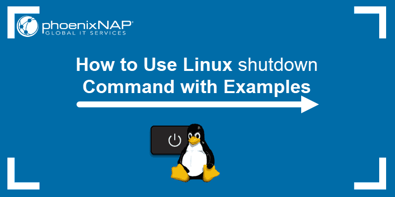 linux tutorial on the shutdown command with options