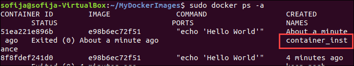 A command to list all Docker containers on system.