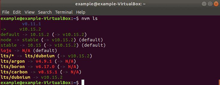 list installed nodejs versions