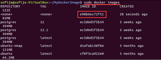 Find Docker image among locally listed images.