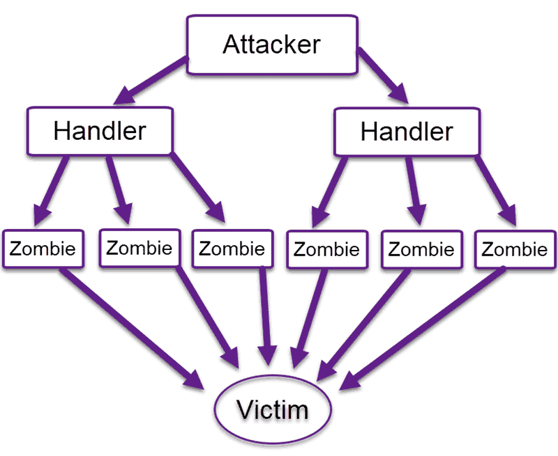 how a brute force attack works diagram