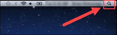 Mac spotlight search button.