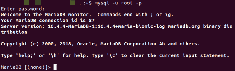 welcome to mariadb monitor