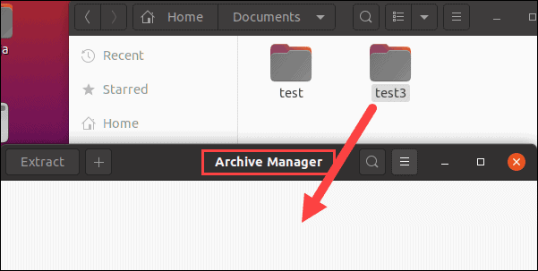 Moving a file to linux archive manager