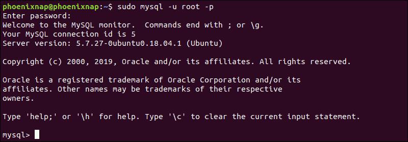 access granted to MySQL in Ubuntu
