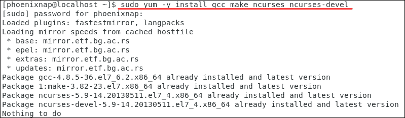 Command to install necessary libraries to install Vim.