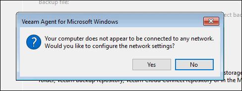 no network warning