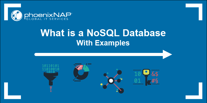 Icons representing the types of NoSQL databases.