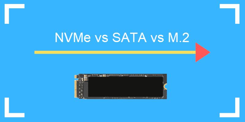 NVMe vs SATA storage compared