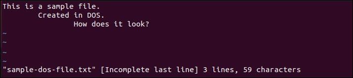 Open a file in the Vi text editor.