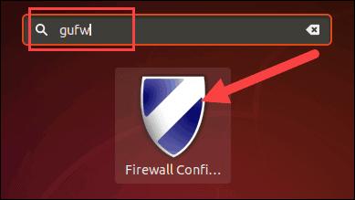 Open GUFW (firewall configuration) using GUI Ubuntu.