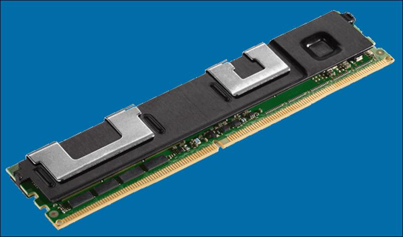 Image of Intel Optane DC Persistent Memory Module.