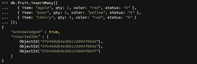 Creating a MongoDB collection using MQL