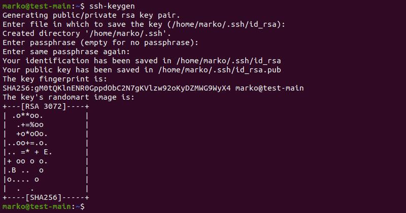 Generating an SSH key set in Ubuntu