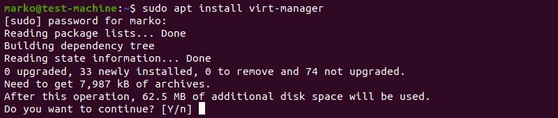 Installing virt-manager with apt