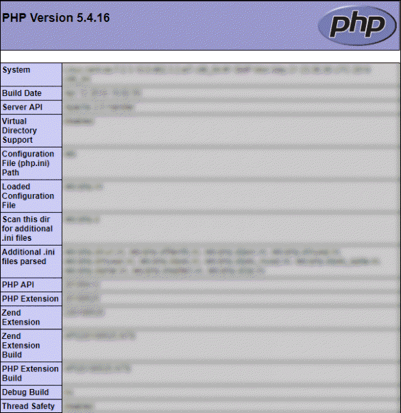 php running version 5.4