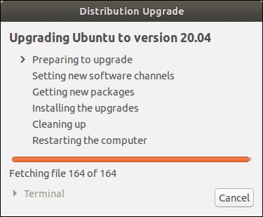 Preparing to upgrade to Ubuntu 20.04.