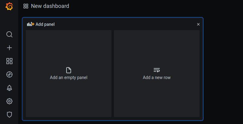 Starting a new dashboard in Grafana