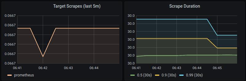 Prometheus scrape metrics section in Grafana Prometheus dashboard