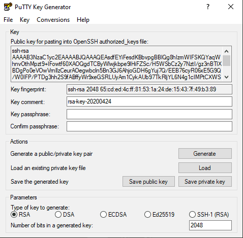 Editing advanced SSH keys options in PuTTY.