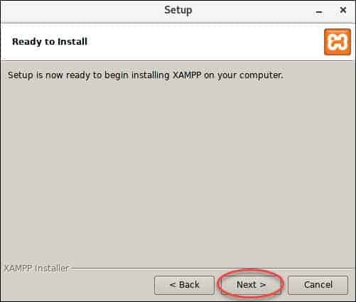 screenshot showing ready to install