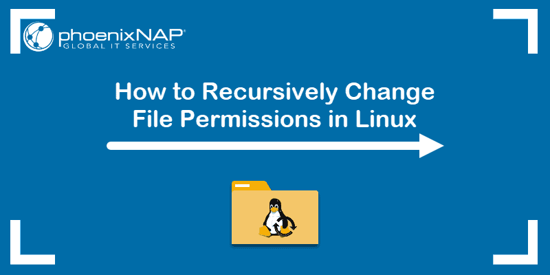 How to recursively change file permissions in Linux.