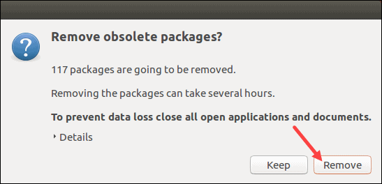 Remove obsolete packages prior to upgrade.