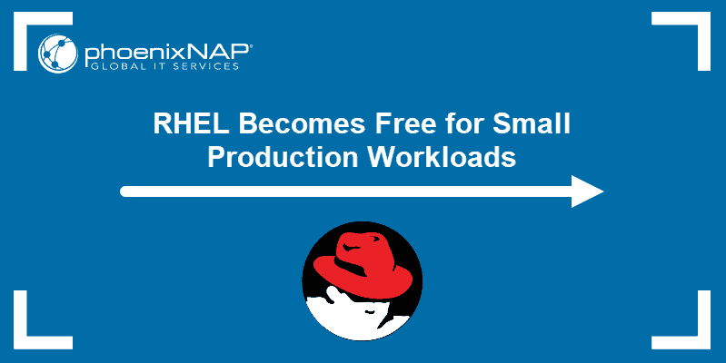 RHEL becomes free for small production workloads.