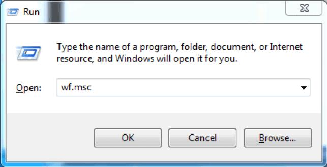 run windows firewall with wf.msc