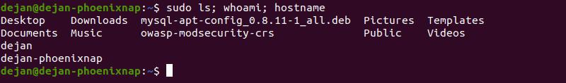 Running multiple sudo commands.