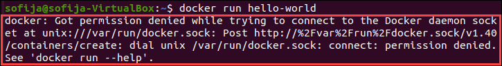 Running a Docker command without sudo in ubuntu 20.04