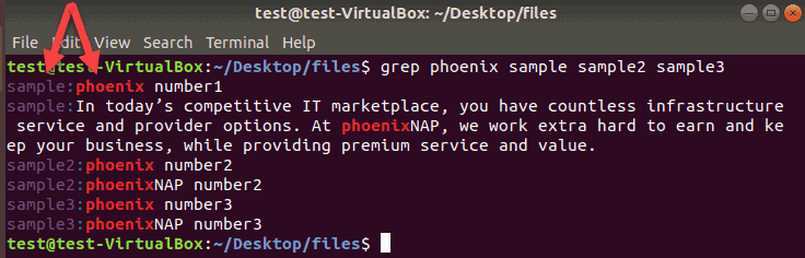 example of searching multiple files with grep command