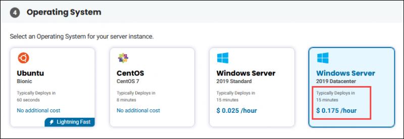 BMC server OS selection