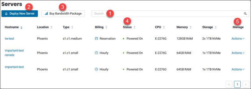 BMC portal servers list