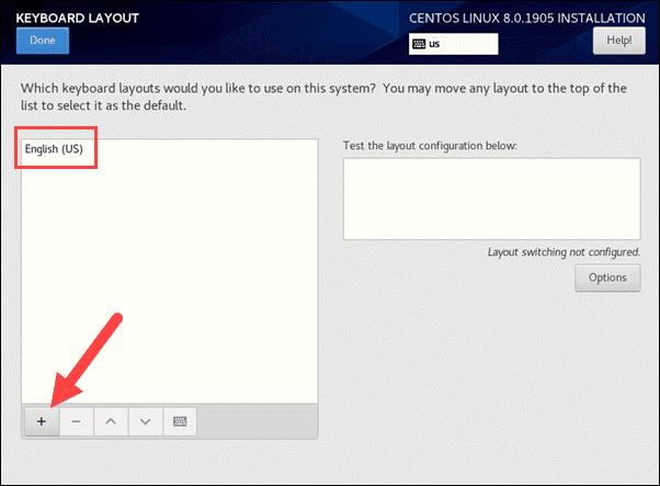CentOS 8 keyboard layout