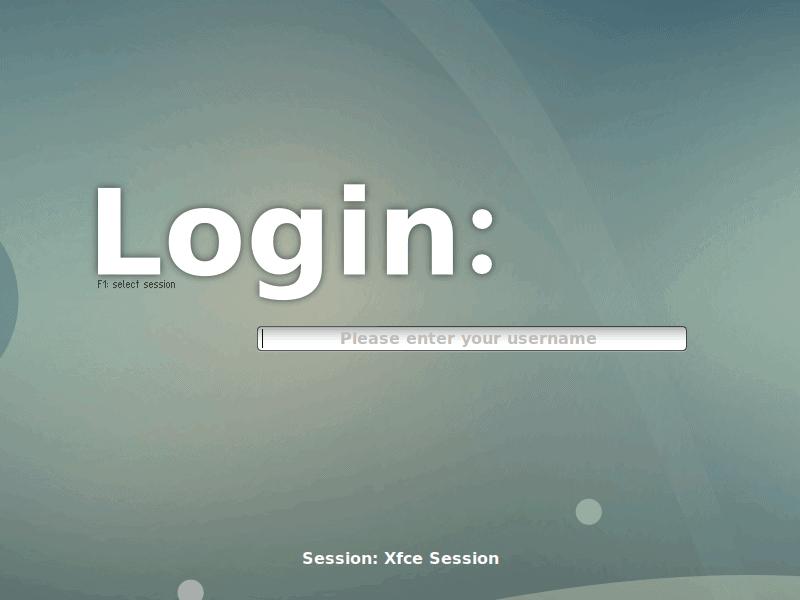 login screen to select guis