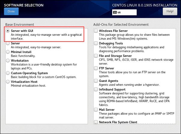 set base environment for CentOS 8