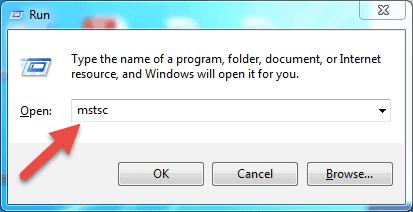 run the remote desktop application